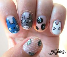 TOTORO NAIL ART   Uñas Totoro