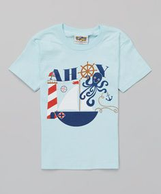 This Light Blue 'Ahoy' Tee - Toddler & Boys is perfect! #zulilyfinds