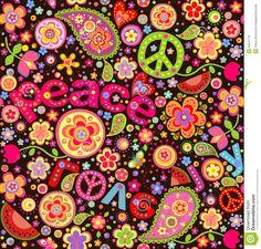 flores hippies pintadas - Buscar con Google
