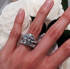 Ring Wedding Engagement Band Huge Diamond Rings Jewelry