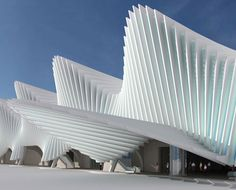 Railway Station - Poland, an evocative sculptural form that's icy structure sets a cold mood of efficiency #architecture ☮k☮