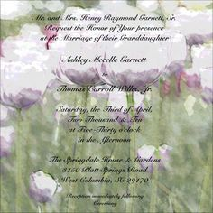 $65 Your wedding invitation recreated on a ceramic tile mounted in a wrought iron basket.    Cherry's Delight 803.739.0357