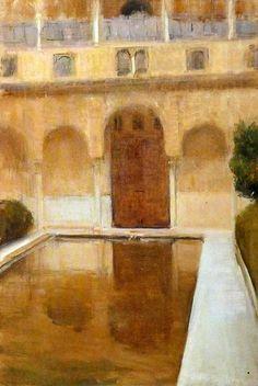 Joaquin Sorolla (Valencia, 1863 - Cercedilla, 1923) Patio de la Alberca. Granada (1917)