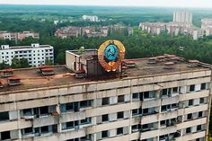 One of the unmanned aerial vehicles lets us get up close to the crumbling buildings in the disaster-ravaged Ukrainian city of Pripyat.