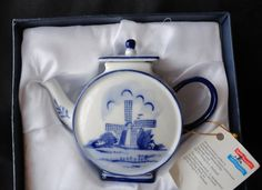 Vintage Delft Blue Porcelain Teapot  Made In by tennesseehills, $14.00