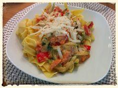 KaRTOFFeLTiGeR: Bandnudeln mit Gemüse-Mascarpone-Sauce  #kochen, #cooking, #kartoffeltiger