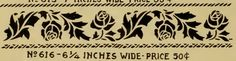 Interesting acanthus and rose stencil from Stencil Catalog, published by Alabastine Co., from early 1900s.