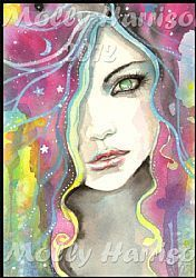 Art: celestialvisioncloseup by Artist Molly Harrison