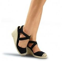 Here are some great looking black espadrilles, that should take you through the warm weather and beyond.    I have selected both casual and more... Dressy Casual Summer, Black Espadrilles, Summer Shoes, Warm Weather, Summer 2014, Summer Sneakers