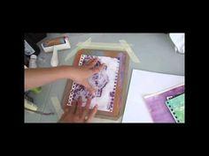 Using Your Gelli Arts Gel Printing Plate Prints - YouTube