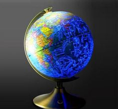 This Globe Shows Earth During The Day and Constellations At Night