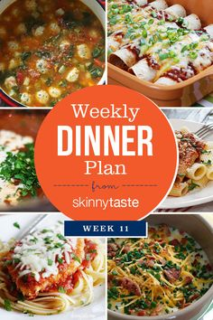 Happy New Year! I'm just returning from a long fun weekend away in Pennsylvania with my family but I'm excited to get back home to my routine, meal planning and cooking at home.  This is week 11 of sharing my weekly dinner plans since launchingThe Skinnytaste Meal Planner. If you're new here you can see the older plans below. Meal planning is so helpful to plan my dinners for the week. I do this on the weekend, then make a shopping list before I head out to the supermarket.  It also…