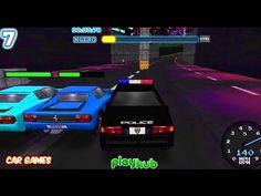 Police Pursuit Gameplay Car Game Cartoon for Kids