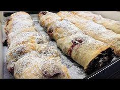 Házi húzott rétes /TT/ - YouTube Potatoes, Sweets, Cookies, Baking, Cake, Ethnic Recipes, Youtube, Food, Crack Crackers
