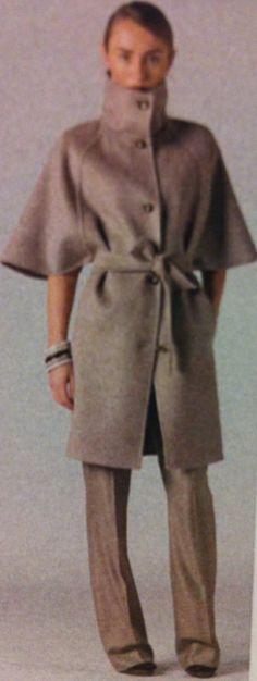 "Max Mara - Doppio Drape Wool  Cashmere Cucito A Mano Cape Coat, Olivia Pope, Scandal, Episode 214, ""Whiskey Tango Foxtrot"""