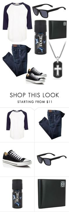 """guys"" by fashion-freak-out on Polyvore featuring River Island, Converse, Lacoste, Axe, Loewe, David Yurman, men's fashion and menswear"