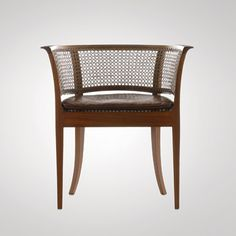 """Faaborg Chair"" designed by Danish architect and furniture designer Kaare Klint in made by Rud. Materials: Mahogany, cane and leather Danish Furniture, Rattan Furniture, French Furniture, Contemporary Furniture, Luxury Furniture, Cool Furniture, Furniture Design, Art Nouveau Furniture, Dinning Chairs"
