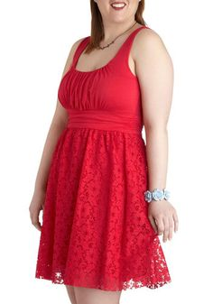 Bridesmaid Dress Option. Little darker than I'd like, but close enough! Hibiscus Iced Tea Dress in Plus Size, #ModCloth