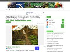 Underground Greenhouse Off Grid World