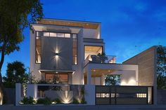 Best Exterior Design in India House Outer Design, Bungalow House Design, House Front Design, Modern Exterior House Designs, Modern House Design, Exterior Design, House Elevation, Front Elevation, Building Facade