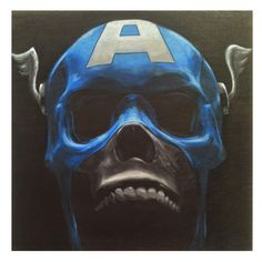 Captain. Acrylic on wood panel - John Perry