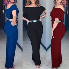 Sexy Off Shoulder Casual Jumpsuit Trend Fashion, Fashion Outfits, African Dresses For Kids, Hijab Dress Party, Dressy Attire, Long Romper, Daily Dress, Casual Jumpsuit, Curvy Outfits