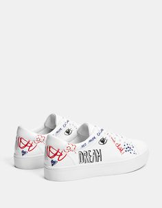 Custom Painted Shoes, Custom Shoes, Womens Fashion Sneakers, Fashion Boots, Sneaker Heels, Shoes Sneakers, Dolce Gabbana Sneakers, Swag Shoes, Kawaii Shoes