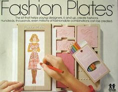 """This is what inspired me when I was like 6 to sketch new fashions and staple together to make """"fashion books"""""""