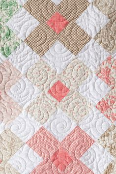 Additional Images of Wallflowers Quilt Kit by Coras Quilts - ConnectingThreads.com