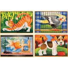 Amazon.com: Melissa & Doug Deluxe Pets in a Box Jigsaw Puzzles: Toys & Games