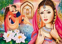 Jigsaw puzzle of 1000 pieces made by Schmidt: 1000 pcs - Leela (by Schmidt). A 1000 pieces jigsaw puzzle made by Schmidt (reference Size: x cm (= x inch). Indian Art Paintings, 1000 Piece Jigsaw Puzzles, Princess Zelda, Fictional Characters, Clearance Toys, Fantasy Characters