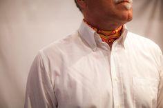 Silk neckerchief - ascot style if you please! For men.