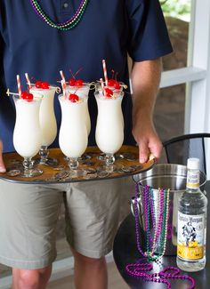 Creamy Captain Morgan Pina Thunders are a great addition to any party.