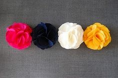 more fabric flowers.