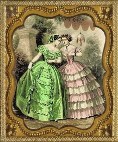Free Victorian Art Designs: Fashion Plates from 1850s Fashion, Edwardian Fashion, Vintage Fashion, French Fashion, Victorian Design, Victorian Art, Historical Costume, Historical Clothing, Vintage Gowns