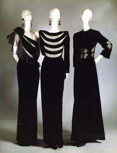 Valentino Left: Haute Couture Fall/Winter 1974/1975 Center: Haute Couture…