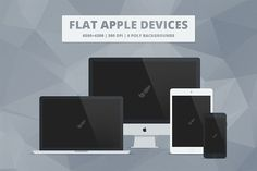 Flat Responsive Apple Web Mockups by Mattias on @creativemarket