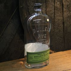 Empty Bulleit Rye Whiskey Bottle Recycled Glass by ReWickedCandle