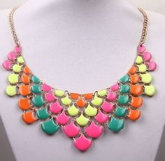 Hot-Fashion-Gold-Plated-Jewelry-Crystal-Rhinestone-Statement-Bib-Chain-Necklace