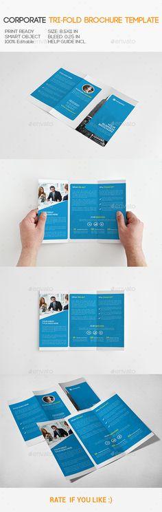 Corporate Trifold Brochure Template. Download: http://graphicriver.net/item/corporate-trifold-brochure/11158858?ref=ksioks