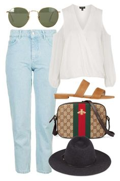 """""""Untitled #5216"""" by rachellouisewilliamson ❤ liked on Polyvore featuring Topshop, Hermès, Gucci, rag & bone and Ray-Ban"""