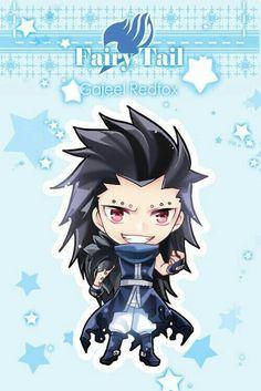 Gajeel Redfox, cute, chibi, text; Fairy Tail