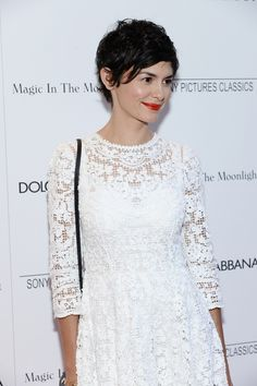 Audrey Tautou and the Eternal Appeal of the Pixie Cut (Vogue) Audrey Tautou, Pixie Hairstyles, Pixie Haircut, Hairstyles Haircuts, Gamine Style, Great Hair, Cut And Style, Short Hair Cuts, Hair Inspiration