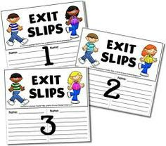 Exit card choices compiled by Mrs. Dettman - can be used at anytime during class