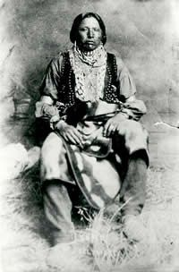 Enoch Hoag, last traditional chief of the Caddos (1896-1929). Date of photo unknown. Courtesy National Anthropological Archives, Smithsonian Institution. (Negative No. 1373b).