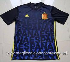 Nuova maglie calcio 2016 per Maglia Allenamento Spagna 2017 blu