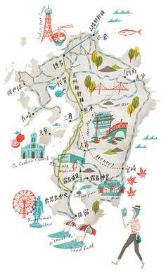 map :: by masako kubo http://www.masakokubo.co.uk/illustration/maps/# | via sfgirlbybay/pretavoyager