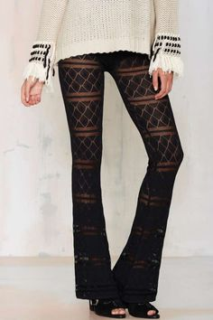 Knitz by For Love & Lemons Joni Flared Pants | Shop Clothes at Nasty Gal!