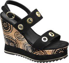 952fe2d86690  Catwalk  Keil  Sandalette  schwarz für  Damen Absatzhöhe 13 0 cm Absatztyp