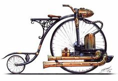 Looks fast! VeloCycle- Unabridged Andra: Steampunk 101: The A-Z of Steampunkery -